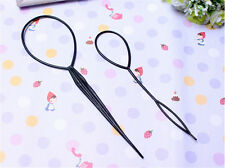 1Pair Pack of Topsy Tail Hair Braid Pony Tail Maker Tool New Salo TOCA