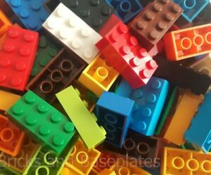 LEGO BRICKS 25 x VARIOUS 2x4 Pin -  From Brand New Sets in a Clear Sealed Bag