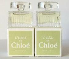L'EAU DE Chloé Eau de Toilette 5 ml EdT (2 X 5 ml Miniature) OVP Rare CHLOE