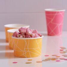Neon Orange Treat tubs - Birthday Party tableware - ice cream tub popcorn - neon
