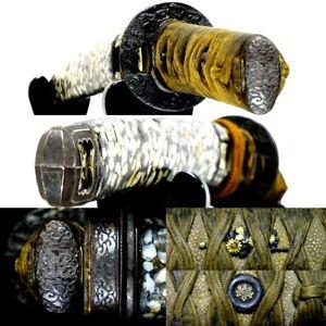 575 Japanese Samurai Edo Antique  Chogai raden saya tanto sword koshirae.