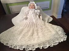 Baby Andrea Crochet Christening Outfit Pattern