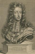 Pieter Stevens Van Gunst (1659-1724) - 18C Engraving, King William III