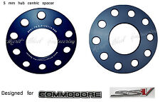 Wheel Slip On Black Spacers 5 mm 5x120 & 5x114.3 66.9 mm Commodore VE VF 2 PCS