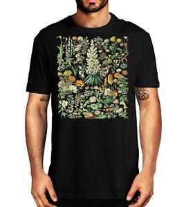 Vintage Inspired Flower Botanical Chart T-Shirt - Flower T-shirt