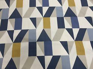 Harlequin Scion Nuevo Indigo/Slate/Satsuma Fabric 1.8m Piece