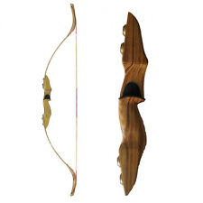 Hunting Recurve Bow 50# Archery Take-down Bow Right Handed Wood Handle