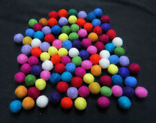 FB3 Hand Crafted 2cm 200 pcs multi wool Felt Ball Decorative pom pom beads Nepal
