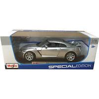 Maisto 2009 Nissan Skyline GT R R35 1:18 Diecast Model Car Silver
