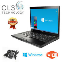 "Dell Laptop Latitude E Series Core 2 Duo WIFI Windows 10 Pro 14"" LCD DVD + 4GB"