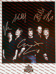 DIE TOTEN HOSEN original signiert – GROSSFOTO !!!