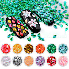 12 Colors/Set Nail Art Tips Stickers 3D Glitter Sequins DIY Manicure Decoration