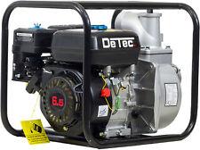 "DeTec 3"" Zoll Benzin Gartenpumpe Motor Schmutzwasserpumpe Teichpumpe 60.000 L/h"