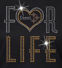 Steelers For Life Rhinestone Iron on Transfer                 H8JF