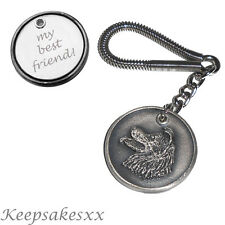 KEYRING Border Collie - Dog Tag Disc Key Chain incls PERSONALISED ENGRAVING