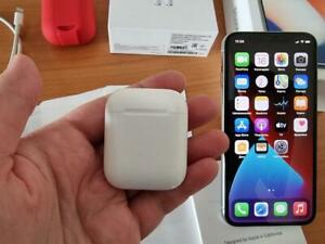 Apple iPhone X 256gb Silver + AirPods