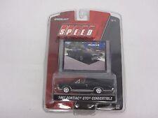 1/64th 1967 Pontiac GTO Convt Black GREENLIGHT Diecast Speed American Muscle Car