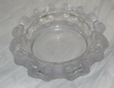 """Vintage Lalique Cannes octopus Crystal Bowl Cigar Ashtray Signed 7.5"""""""