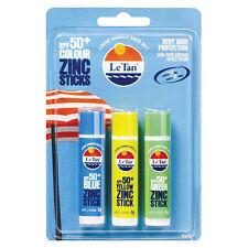 Le Tan Colour Zinc Sticks SPF 50 3pk X 5g