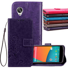 Retro Leather Wallet Card Holder Case Cover For Google LG Nexus 5 5X 6P Pixel XL