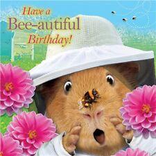 """Crazy Redondo """"Bee-autiful cumpleaños!"""" - Cuadrado Tarjeta De Cumpleaños"""