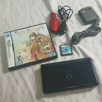 Black Nintendo DS Lite w/ Harvest moon Rune 1 Raving Rabbits + Home Car Chargers