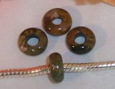 ♥ Halbedelsteinbead Bead Rhyolit Rhyolith European Gemstone ♥ PBE021