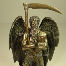 Chronos Greek Father of Time Sculpture Statue Antique Bronze Finish
