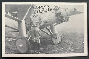 1927 St Louis MO Usa RPPC Postcard Cover Capt Chas Lindbergh Flight To Paris