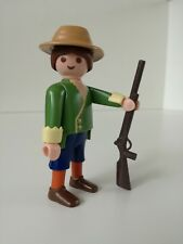 Playmobil Figure - Farmer with Long hair and Riffle (Loose)
