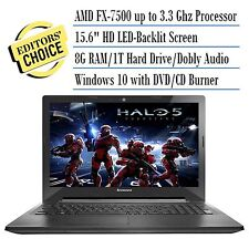 "New Lenovo Z50 15.6""HD QuadCore FX-7500 3.3GHz 8GB RAM 1TB HD HDMI VGA DVDRW 1Yr"