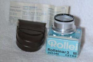 Rolleiflex Rolleinar 3 Close Up  Filter Bay-3 with Case & Box