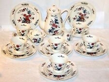 Wedgwood Keramik * Potpourri * Kaffee-Service 21-tlg * Blumen & Vogel * 12013