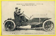 cpa Course AUTOMOBILE 1908 RACING CAR Pilote Felice NAZZARO sur Voiture FIAT