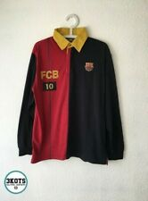 BARCELONA FC 2000s FCB Merch Polo Football Shirt XL Mens Vintage Soccer Jersey