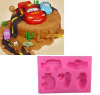 Car Silicone Icing Mould Cake Decoration Topper Sugar Paste SugarCraft DIY Kids