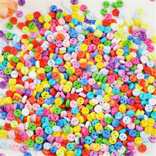 New 500Pcs 6mm Round Resin Mini Tiny Buttons Sewing Tools Apparel Accessories