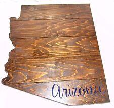 Arizona Large Wood Plaque State Barn Board Wall Hanging Decor Reclaimed Rustic