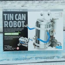 NEW 4M Tin Can Robot 3653 Fun Mechanics Kit Green Science Soda Recycling Project