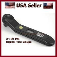 LCD Digital Tire Air Pressure Gauge Accurate Tester 2-100 PSi Tyre Car-Truck-RV