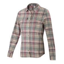 Euc Women's Taos Plaid Shirt Xs Pink, Mauve, Gray