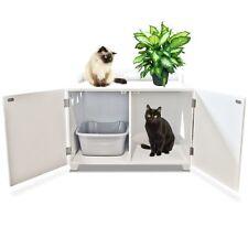 Cat Litter Box Wood Cabinet Hide Away Cat House Designer Furniture ShoppingRay
