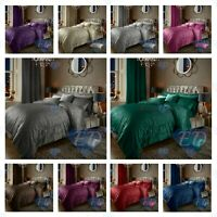 Luxury Crushed Velvet Duvet Quilt Cover Bedding Linen Set Housewife Pillowcases