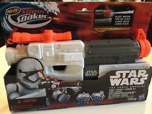 Star Wars The Force Awakens Stormtrooper Super Soaker Water Blaster Nerf Toy New