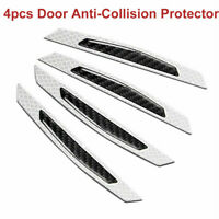 4Pcs Scratches Car Door Edge Rubber Bumper Protector Anti-collision Trim UK