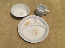 Precious Moments Melamine Plate, Bowl, and Mug Set - God is Great