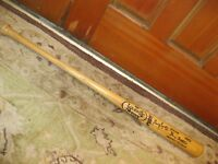 Gary Templeton Game Used Autographed Baseball Bat