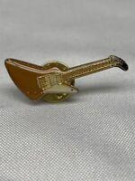 Vintage Guitar Shaped Pinback Pin