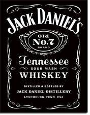 Blechschild  Neu Jack Daniels Logo black Tennessee Whiskey 31 x 40,5 cm