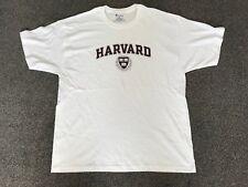 CHAMPION HARVRAD WHITE SIZE XL MEN'S T-SHIRT USED SHORT SLEEVED